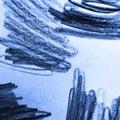 Curve Doodle. Blue Fun Artwork. Curve Wallpaper. Blue and Cobalt Vintage Sketch. Indigo Curve
