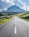 Curve at the european alps Royalty Free Stock Photography