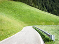 Curve at the european alps Stock Image