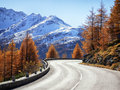 Curve at the european alps Stock Images