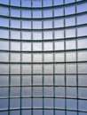 Curve of glass wall pattern Royalty Free Stock Photography