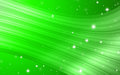 Curve lines shine sparkle stars green background Royalty Free Stock Image