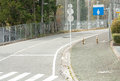 Curve of road in the city in japan Stock Photography