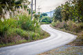 Curve road view from countryside Royalty Free Stock Photography