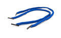 Curved blue shoelaces on white Royalty Free Stock Photo