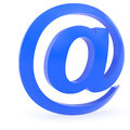 Curved blue at sign Royalty Free Stock Photo