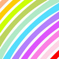 Curved colorful wide strips diagonally in a square format Stock Photos