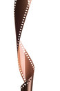 Curved Film strip Royalty Free Stock Photo