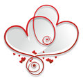 Curved heart a decorative red element with embellishments Royalty Free Stock Photos
