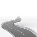 Curved motorway disappearing in mist illustration Royalty Free Stock Photography