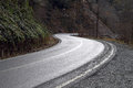 Curved mountain road asphalt image Royalty Free Stock Photos