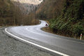 Curved mountain road asphalt image Stock Images