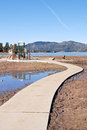 Curved Path On Mud Bank Stock Photography