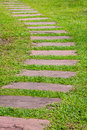 Curved path in thailand s garden Stock Photography