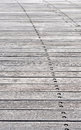 Curved path a on wooden planks Stock Photography