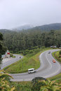 Curved road in cameron highlands malaysia september a van run pass near cactus point on sep malaysia Royalty Free Stock Photo