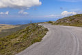 Curved road Lesbos Royalty Free Stock Photo