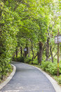 Curved road this photo was taken in egret island park nanjing city jiangsu province china Stock Photo