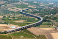 Curved sicilian highway Royalty Free Stock Photo