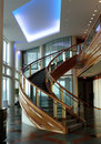 Curved staircase Stock Photos