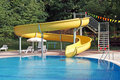 Curved water slide Royalty Free Stock Photo