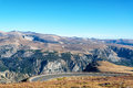 Curving Highway in Beartooth Mountains Royalty Free Stock Photo