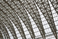 Curving roof trusses steel of a building chengdu china Stock Images