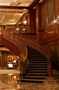 Curving Wood Staircase Royalty Free Stock Photos