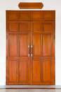 Curving wooden door Royalty Free Stock Photography