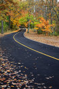 Curvy Blacktop Road Royalty Free Stock Photos