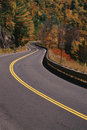 Curvy country road Stock Photography
