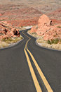 Curvy desert road Stock Photos