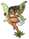 Curvy Ebony Fairy Stock Photography