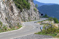 Curvy road mountain with curves in montenegro Stock Photography