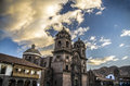 Cusco cathedral peru the built by the spanish conquerers in the plaza de armas Royalty Free Stock Images