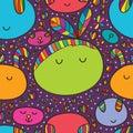Cushion cute seamless pattern