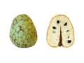 Custard-apple half and whole Royalty Free Stock Photo