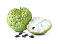 Custard apple on white background Royalty Free Stock Image