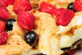 Custard and Meringue Cake with Fresh Berries Royalty Free Stock Images