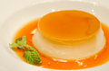 Custard pudding Stock Images