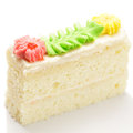 Custard sponge cake closeup photo Royalty Free Stock Photos