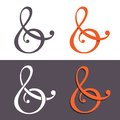Custom ampersands ampersand for wedding invitation vector illustration of sign Royalty Free Stock Photography