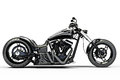 Custom black motorcycle on a white background Stock Photos