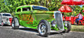 Custom built green Hot rod Royalty Free Stock Photo