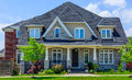 Custom built luxury house in the suburbs of Toronto, Canada. Royalty Free Stock Photo