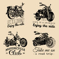 Custom chopper and motorcycle logos set. Vintage inspirational posters, t-shirt prints collection for MC, garage etc.