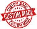 Custom made grunge retro red isolated stamp