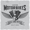 Custom Motorbikes Poster