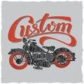 Custom Motorcycles Poster