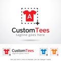 Custom Tees Logo Template Design Vector